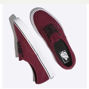 Black and Burgundy Vans